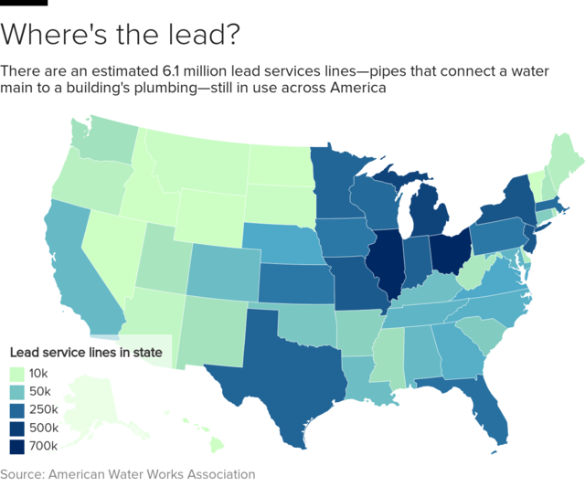 Us Map Of Lead In Water Lead in America's water systems is a national problem   CBS News