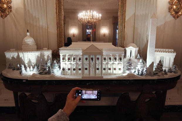Holiday Decorations On Display At The White House