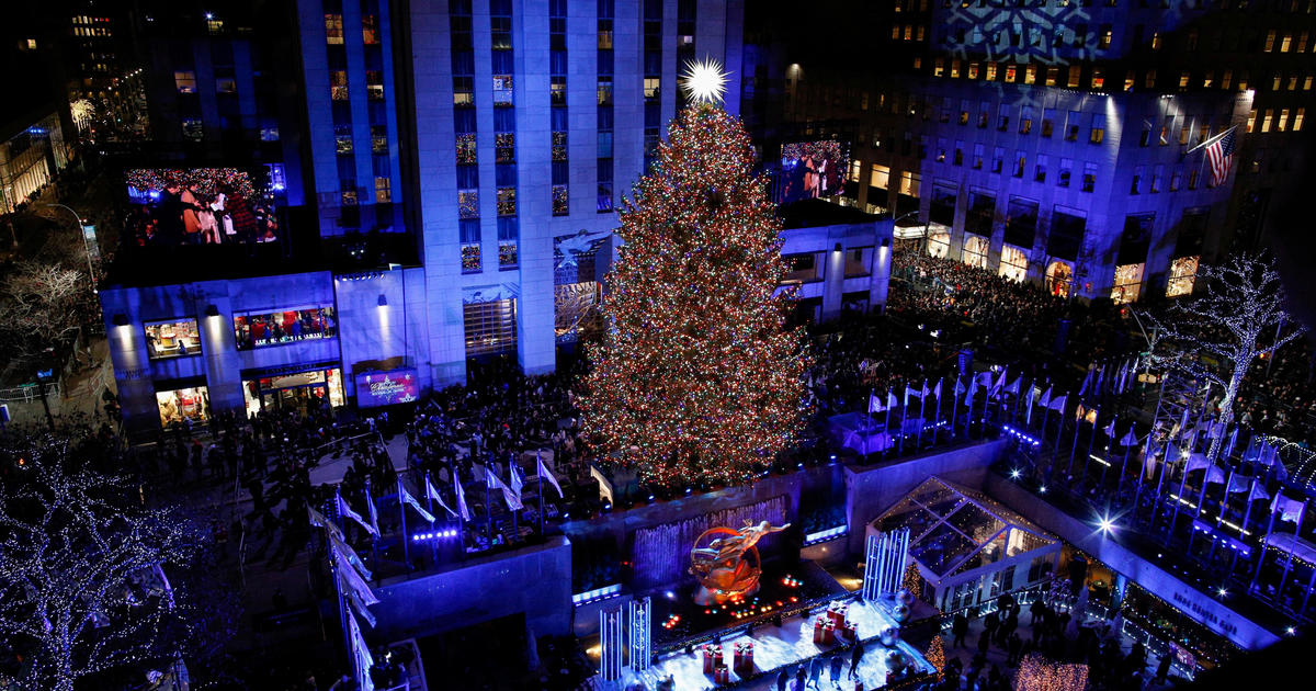 2018 rockefeller center christmas tree lighting watch live stream start time tv channel today cbs news 2018 rockefeller center christmas tree