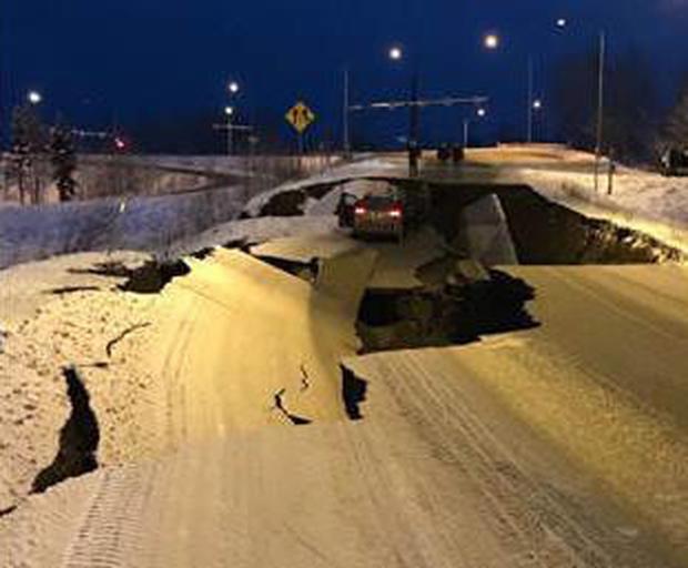 Garage Nest cam captures SUV rocking in Alaska's 7.0 quake