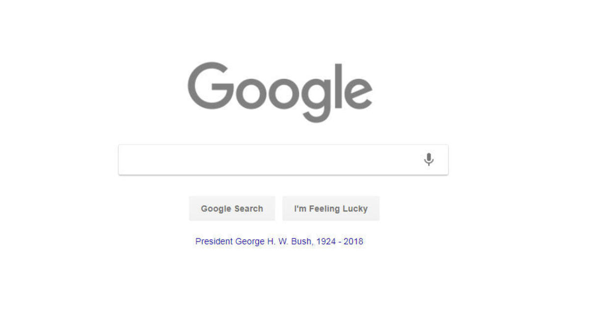 Google logo honors President Bush on National Day of Mourning