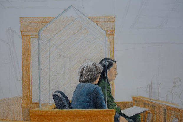 Huawei CFO Meng Wanzhou, who was arrested on an extradition warrant, appears at her bail hearing in B.C. Supreme Court