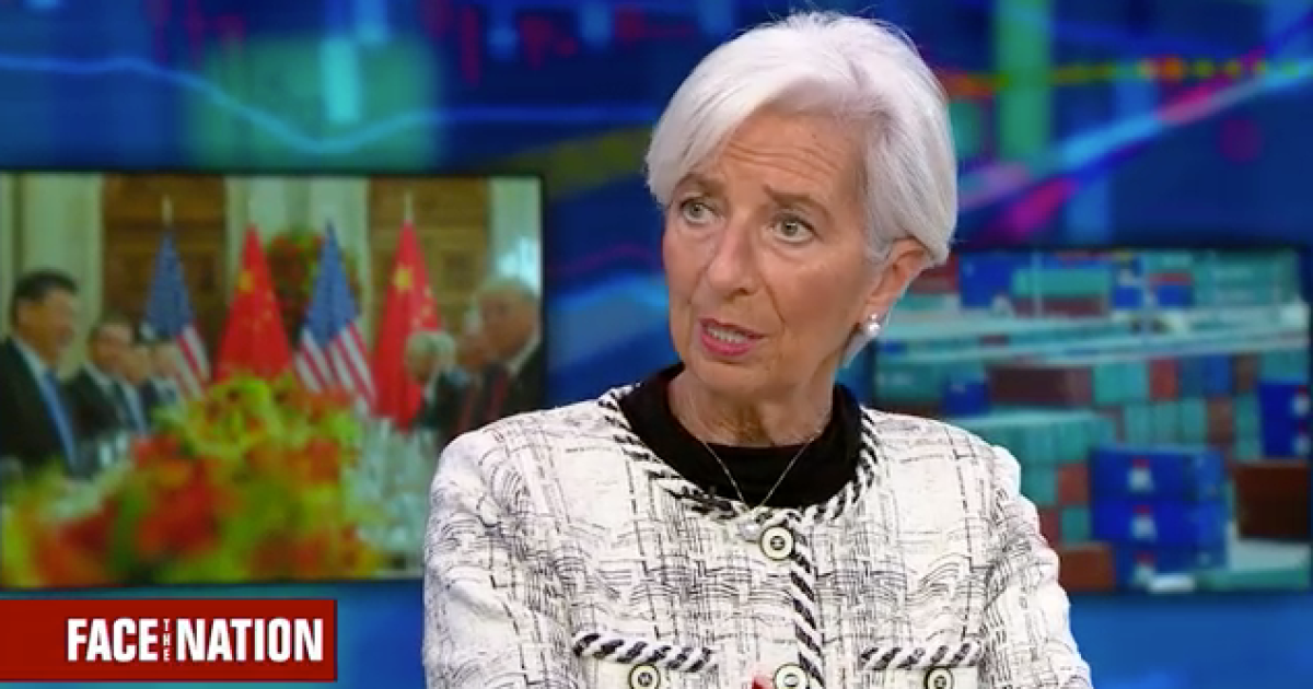 """IMF chief Christine Lagarde sees """"no signs"""" of U.S. recession """"in the near term"""""""