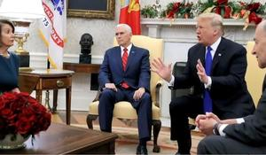 Trump spars with top Democrats over border wall funding