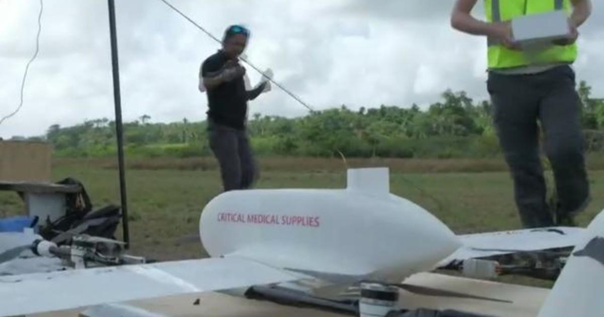 Children on remote island receive first drone-delivered vaccines