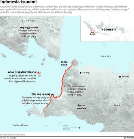 Indonesia tsunami map - Tsunami slams Indonesia - Pictures - CBS News