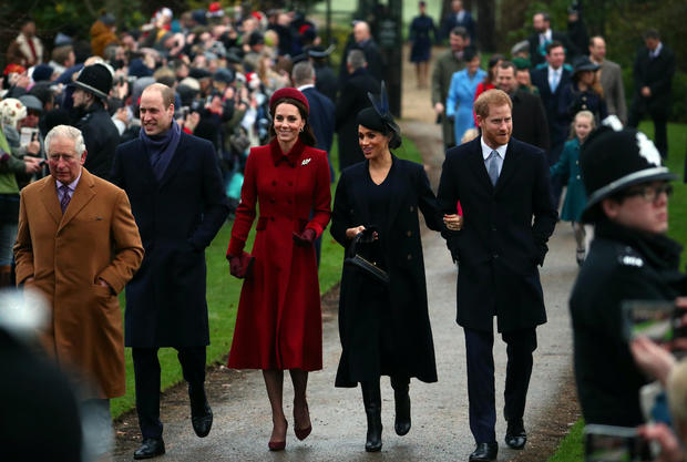Participants of Royal household arrive at St Mary Magdalene's church for the Royal Household's Christmas Day provider on the Sandringham property in jap England