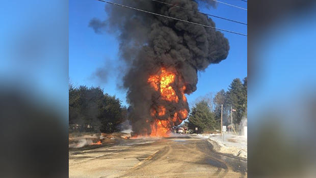 Tanker truck explosion: Fuel truck bursts into flames after