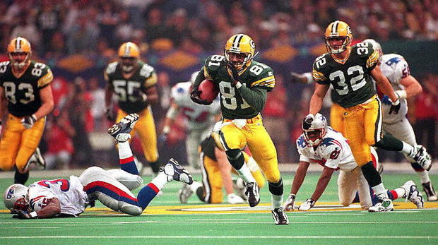 Green Bay Packers kick returner Desmond Howard (81