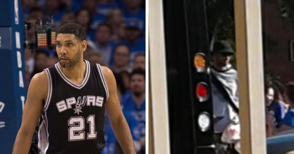 Nba Legend Tim Duncan Spotted Handing Out Food In San