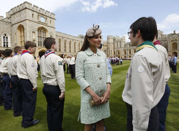 The Duchess Of Cambridge Attends The National Review Of The Queen's Scouts At Windsor Castle