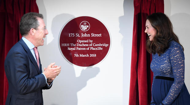 The Duchess Of Cambridge Opens New Place2Be Headquarters