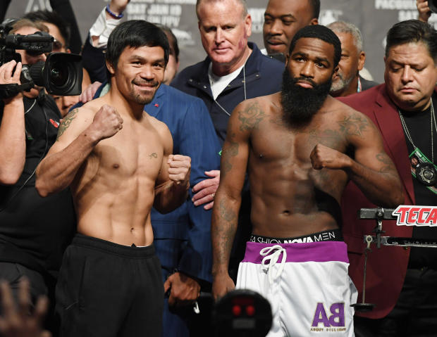Manny Pacquiao v Adrien Broner - Weigh-in