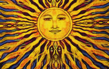 "Here comes the sun! ""Sunday Morning"" sun art"