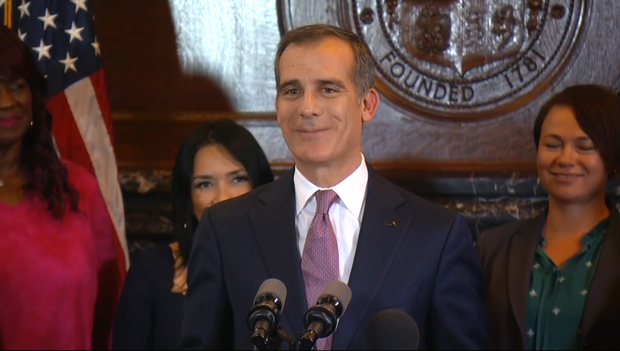 Los Angeles Mayor Eric Garcetti says he's not running for
