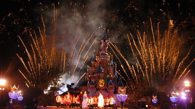 """Eröffnung der Weihnachtssaison 2008, """"Cinderella""""-Schloß, """"Disne"""