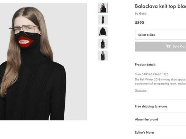 36b50192d2d07 Gucci blackface sweater  Gucci removes  890