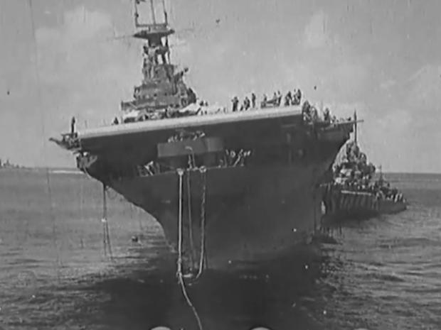 d1532a582 The hunt for the USS Hornet: On board the search for a fabled aircraft  carrier sunk by the Japanese during World War II - CBS News