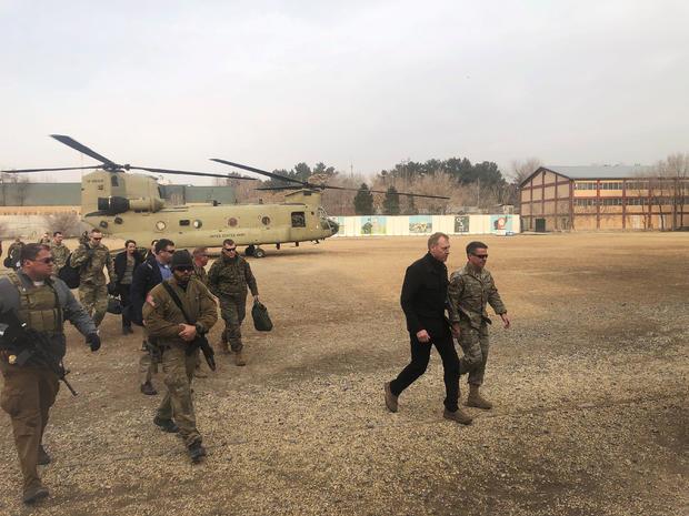 Acting U.S. defense secretary Patrick Shanahan arrives in Kabul