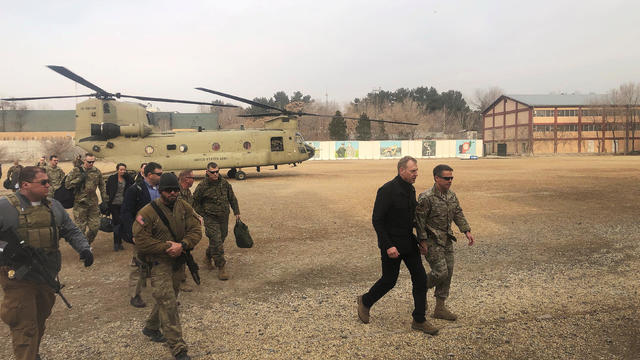 Acting U.S. defense secretary Patrick Shanahan arrives in Kabul