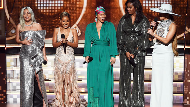 Lady Gaga, Jada Pinkett Smith, Alicia Keys, Micelle Obama, JLo — 61st Annual Grammy Awards