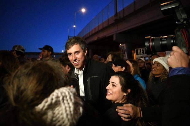 Beto O'Rourke participates in a march in El Paso