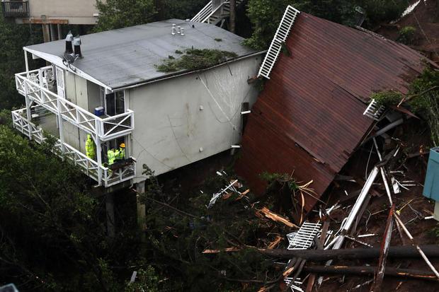 Sausalito, California — mudslide