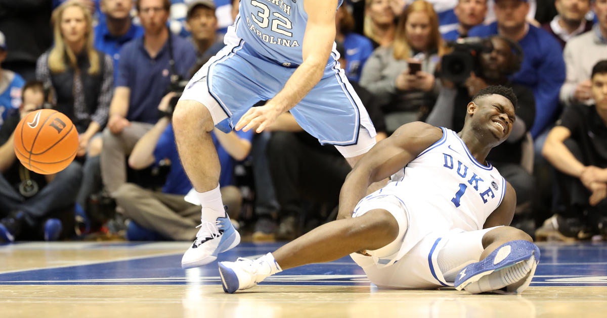 be884c989e5 Zion Williamson injury  Nike vows investigation after Duke star s shoe  blows out - CBS News
