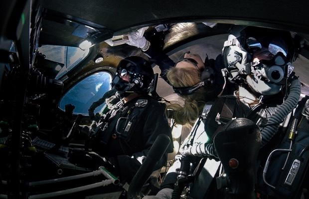 First passenger flown to edge of space by Virgin Galactic