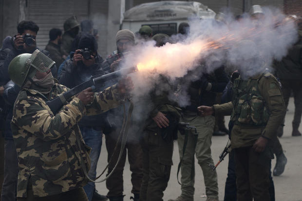 India's protest in Kashmir