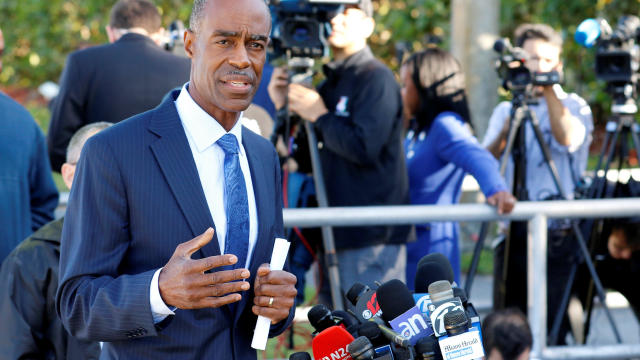Broward County School Superintendent Robert Runcie talks to media on the one year anniversary of the shooting which claimed 17 lives at Marjory Stoneman Douglas High School in Parkland