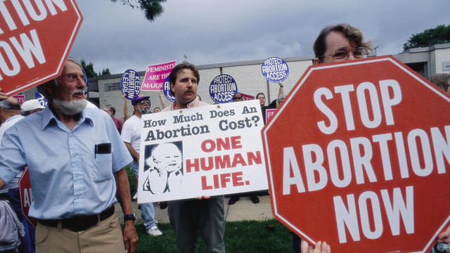 Anti-Abortion Protest Outside Medical Clinic