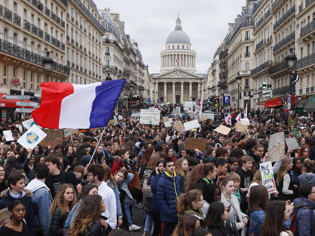 France Climate Student Protests