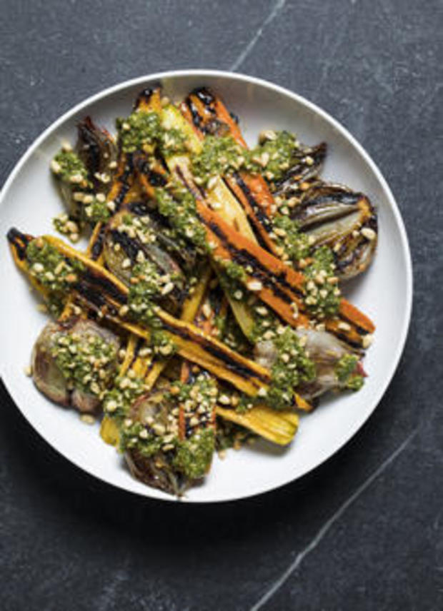 Recipe Roasted Carrots And Shallots With Chermoula From