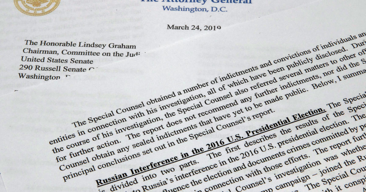 The key findings from the Justice Department summary of Mueller's