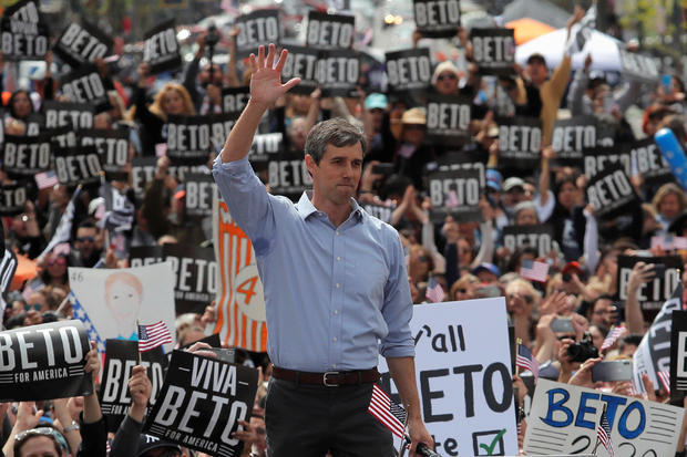 Democratic 2020 U.S. presidential candidate Beto O'Rourke attends a kickoff rally on the streets of El Paso