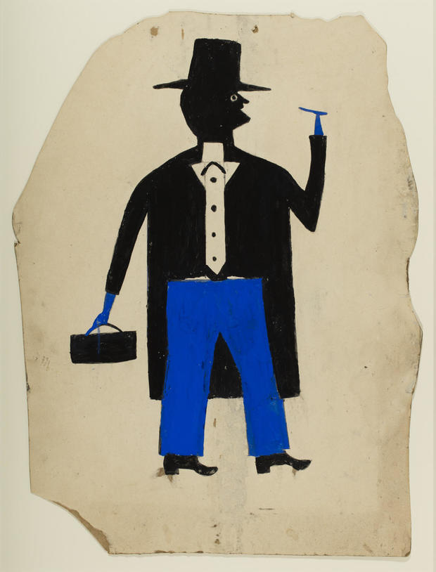 bill-traylor-gallery-1500-man-in-black-and-blue-with-cigar-and-suitcase.jpg