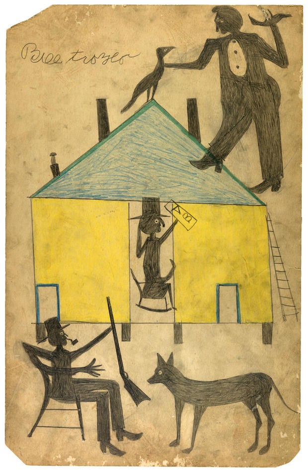 bill-traylor-gallery-yellow-and-blue-house-with-figures-and-dog.jpg