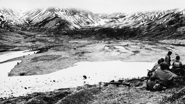 Aleutian Islands In Attu WWII