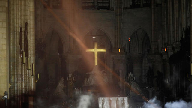 Notre Dame Cathedral fire - altar