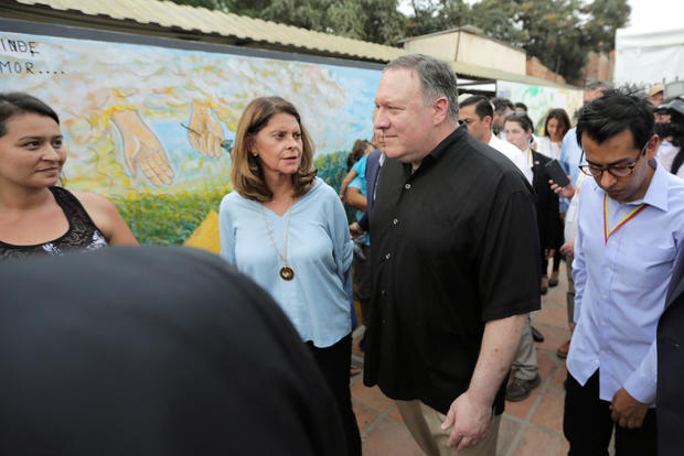 U.S. Secretary of State Mike Pompeo visits town of Cucuta on Colombian-Venezuelan border