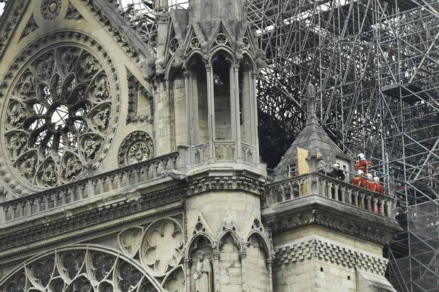 Fire burns Notre Dame Cathedral in Paris