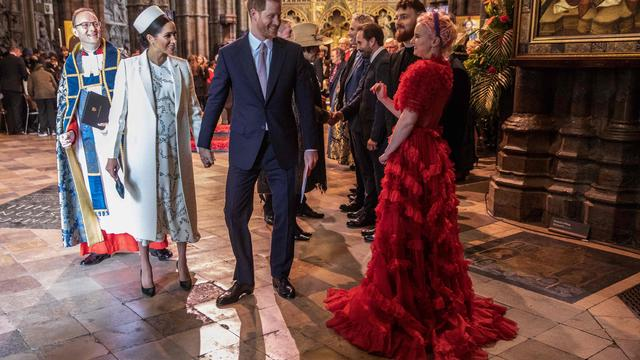 """The Duke And Duchess Of Sussex Attend The Cirque du Soleil Premiere Of """"TOTEM"""" In Support Of Sentebale"""