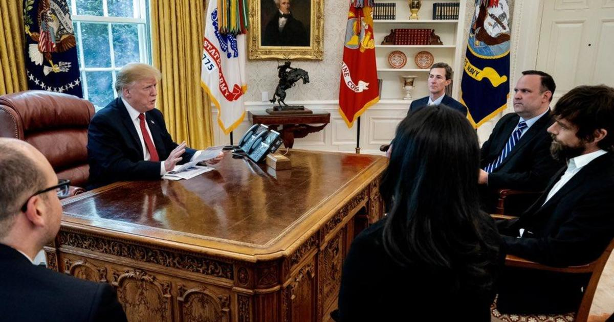 www.cbsnews.com: Donald Trump, Twitter's most famous user and critic, meets with CEO Jack Dorsey