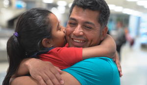 7-year-old reunites with father 326 days after being separated