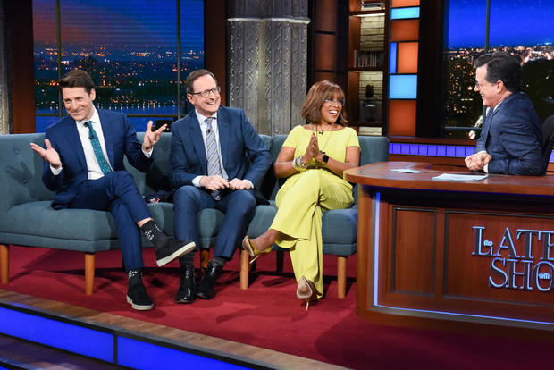 Tony Dokoupil, Anthony Mason, Gayle King — The Late Show with Stephen Colbert