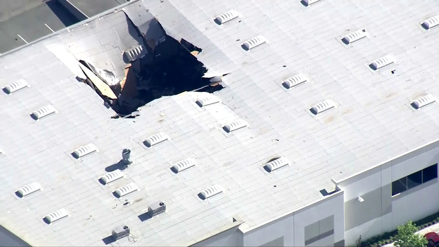 Military F-16 fighter jet crashes into building in California today