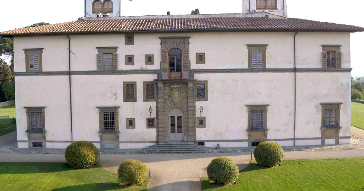A royal estate in Tuscany: The Villa Le Corti sits high atop a hillside in Chianti's wine region, on land Princess Giorgiana Corsini's family has owned since the 1300s