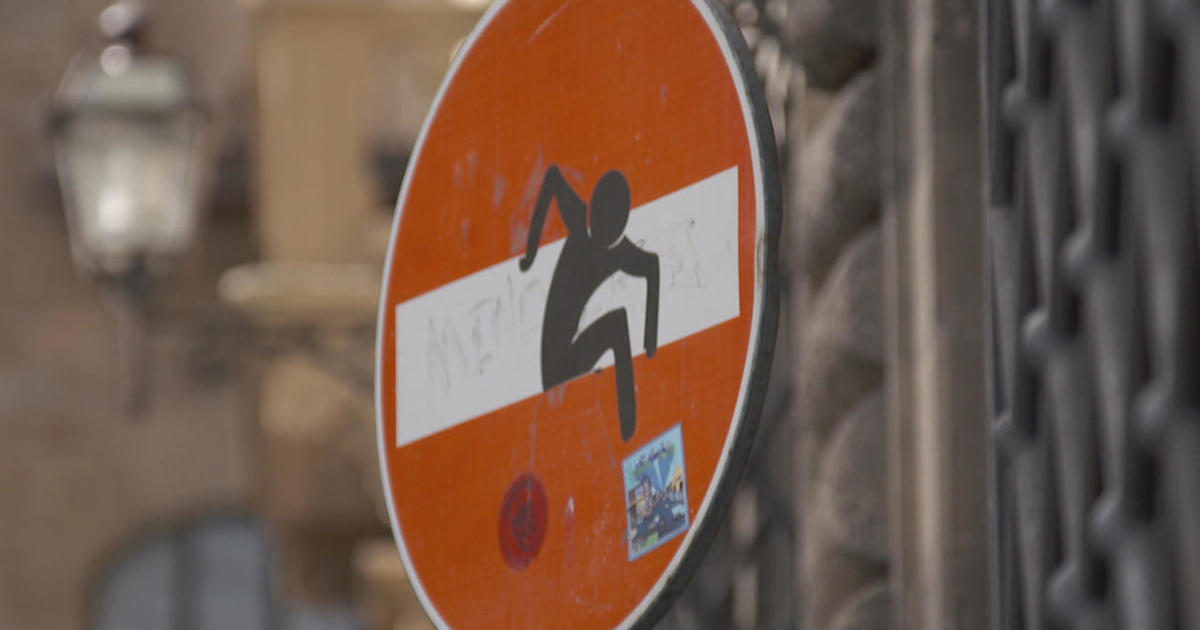 In Florence the hottest new art pieces are Clet Abraham's doctored street signs – playful, funny and irreverent