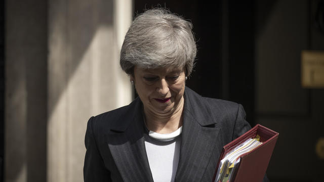 Theresa May Leaves For PMQs